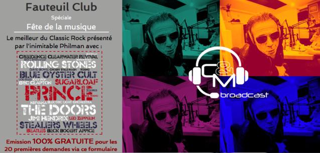 CM-Broadcast : une émission animée par Philippe Manœuvre