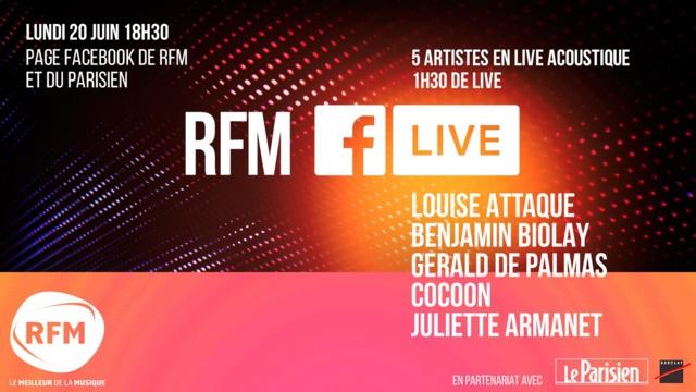 RFM fête la musique en direct sur Facebook
