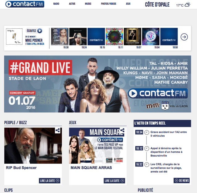 Contact FM lance une nouvelle version de son site