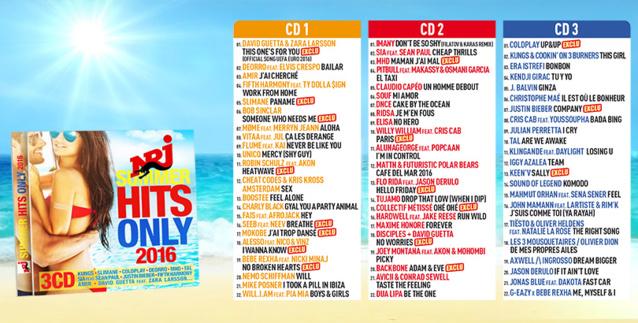 """NRJ Summer Hits Only 2016"" en tête des ventes"