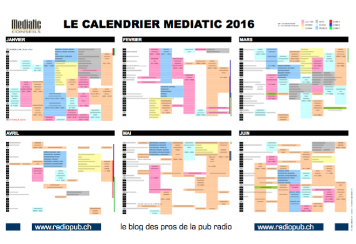 Le calendrier Marketing Mediatic est paru