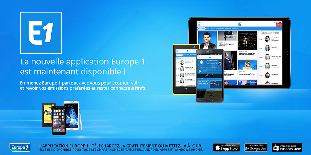 Europe 1 : record de consultations sur mobile en juin 2016