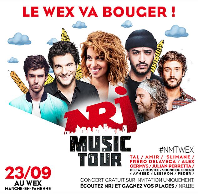 """Le """"NRJ Music Tour"""" en Belgique"""