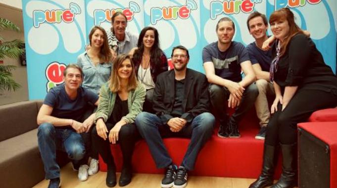 Pure FM fait sa rentrée et salue l'arrivée de Joël Habay (au centre) - © Tous droits réservés