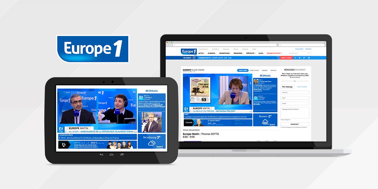 Europe 1 : 1ère marque radio sur le mobile en juillet