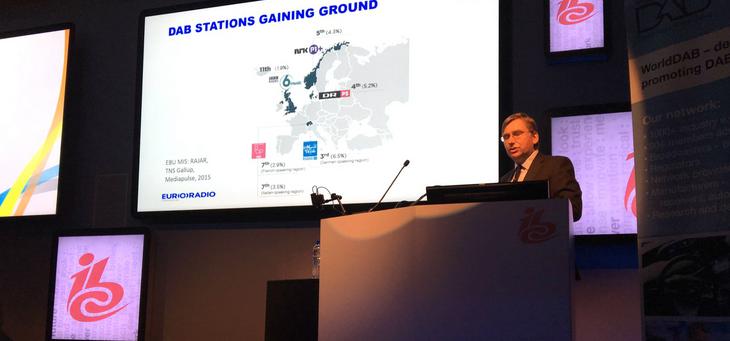 À l'IBC à Amsterdam, il y a quelques jours, Graham Dix, responsable de la branche radio à l'UER, a bien sûr évoqué la progression du DAB en Europe