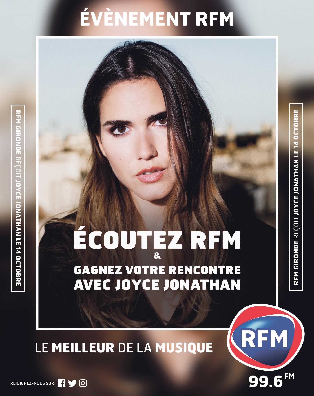 Joyce Jonathan sur RFM Gironde