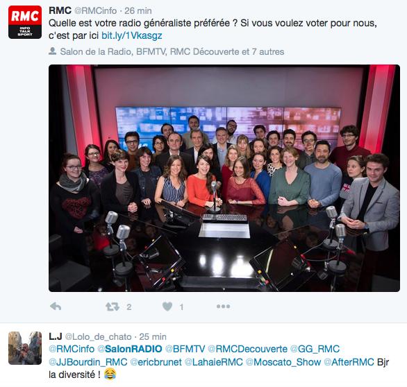 RMC a joué le jeu sur Twitter et sur son site web