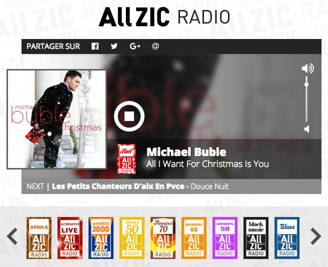 Allzic Radio fête aussi Noël