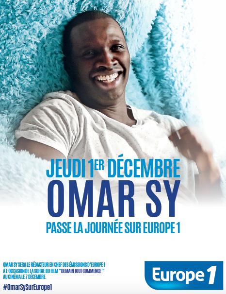 Omar Sy passe la journée à Europe 1