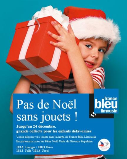"""""""Pas de Noël sans jouets"""" pour France Bleu Limousin"""