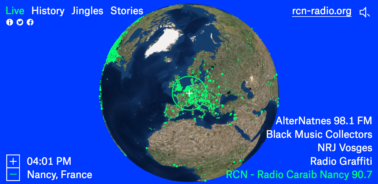 Radio.Garden : l'appli radio la plus jouissive depuis le Mur du Son des Indés Radios