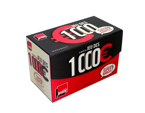 Le jeu des 1 000 euros dans une boîte de jeu