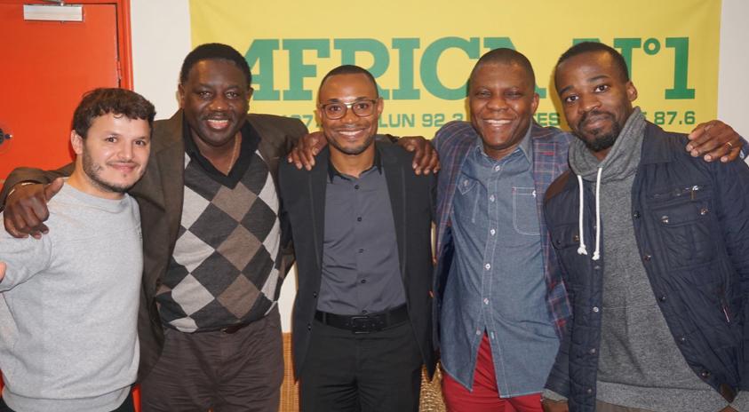 L'équipe d'Africa N°1 : Hakim Djelouat, Lamine Badiane, Charles Mbuya de BBC Afrique, Willy Dorkenoo et Christian Shango