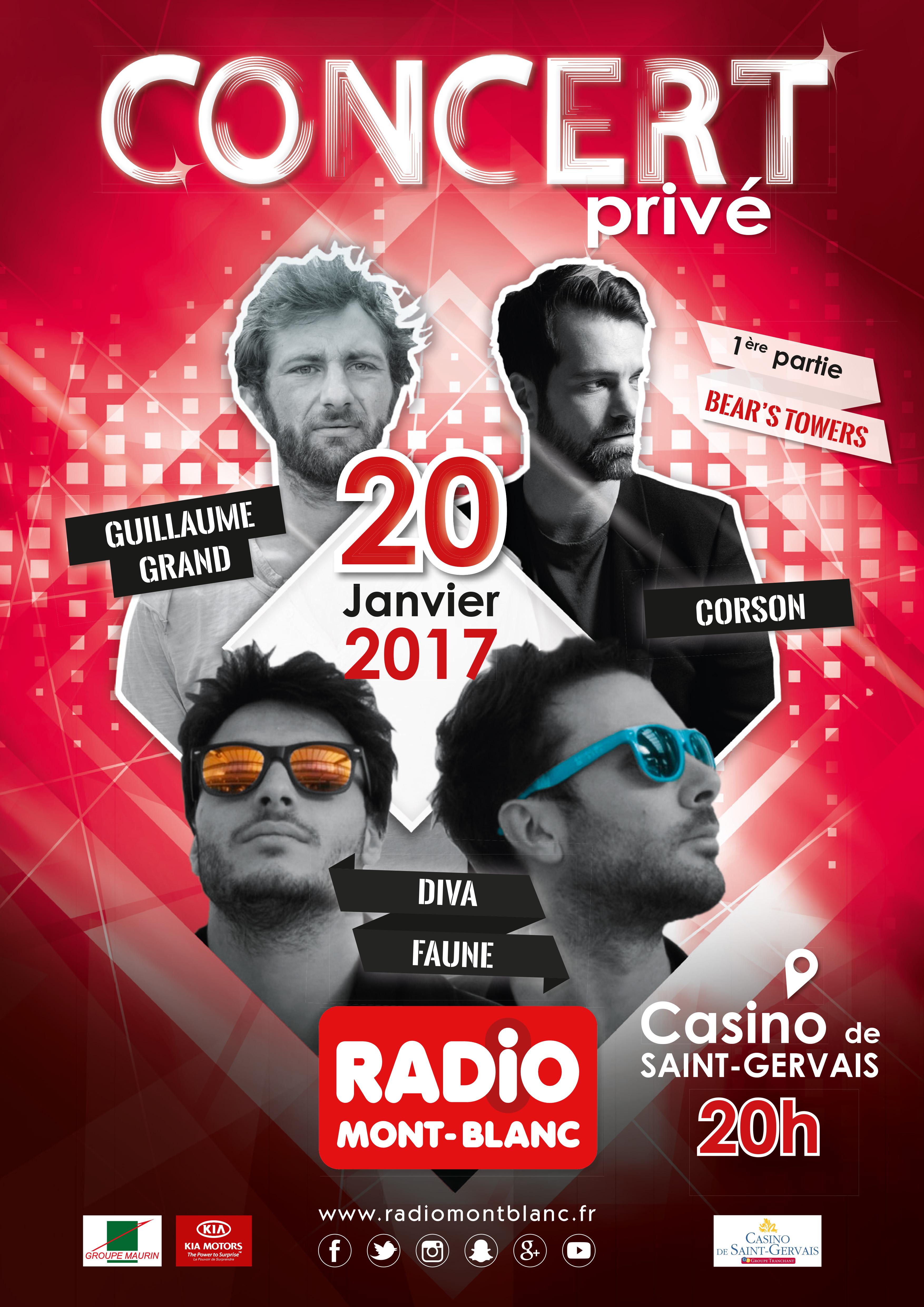 Radio Mont Blanc organise un concert privé