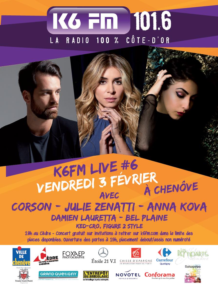 K6FM Live pour la première fois à Chenôve