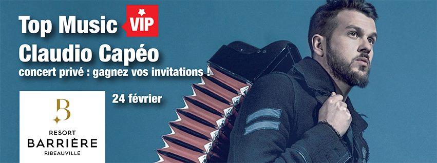 "Top Music : un ""Top Music VIP"" avec Claudio Capéo"