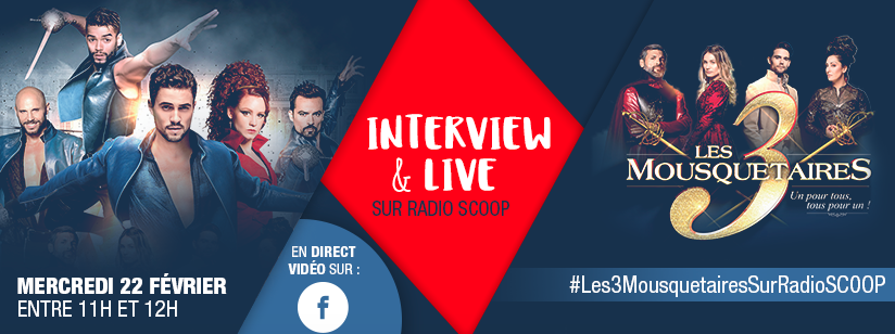 Les 3 Mousquetaires en direct  sur Radio Scoop