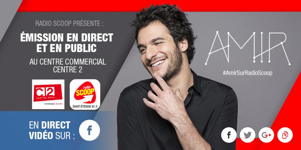 Amir en concert avec Radio Scoop