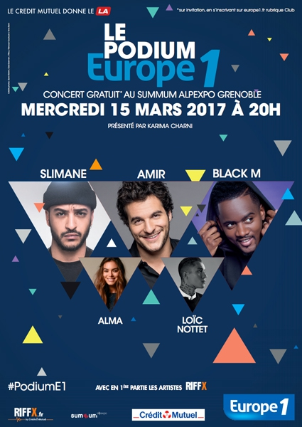 Un Podium Europe 1 à Grenoble