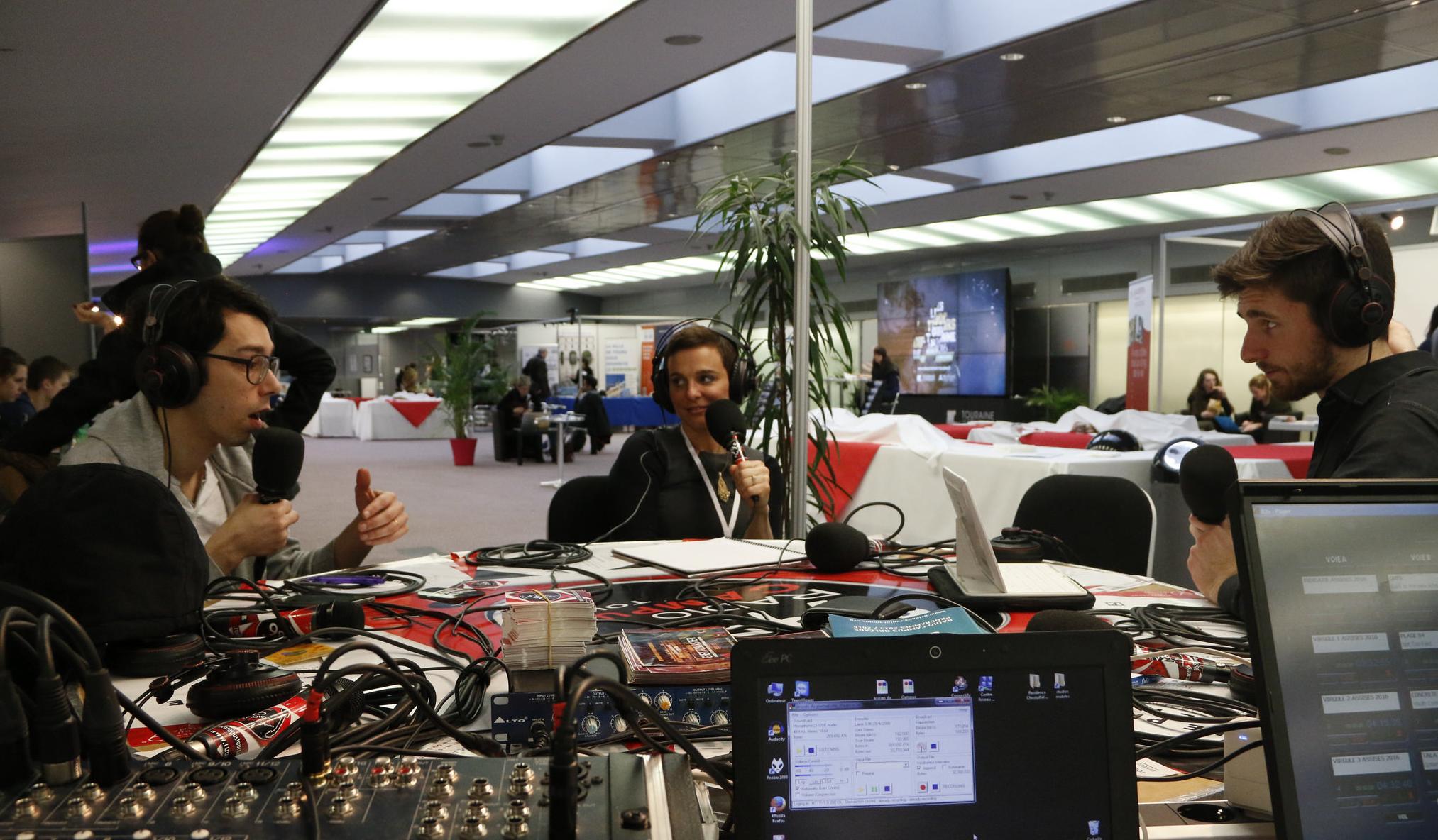 Le réseau Campus France, l'an passé à l'occasion de la 9e édition des Assises du journalisme avec Radio Campus Tours