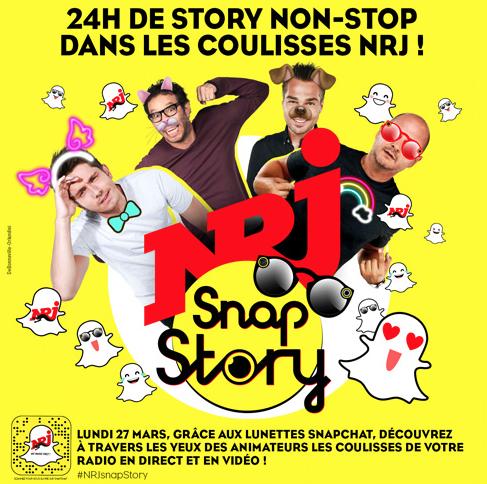 Un Story Snapchat de 24 heures pour NRJ