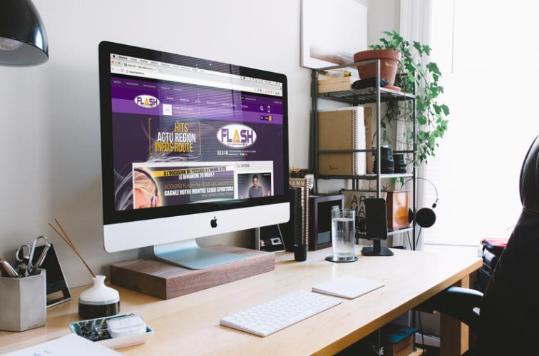 Labmédia réalise le site web de Flash FM