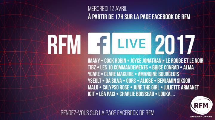 RFM Facebook Live : 20 artistes et 5 heures de concert