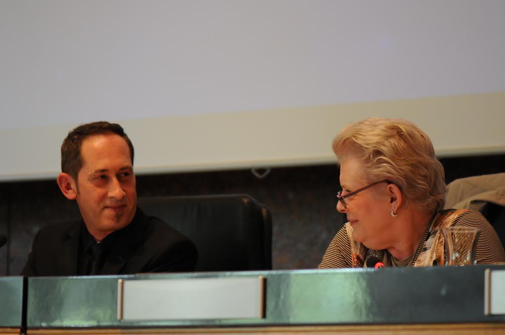 Le président Jean-Yves Breteau aux côtés de l'ex-ministre Catherine Trautmann lors du congrès 2016.