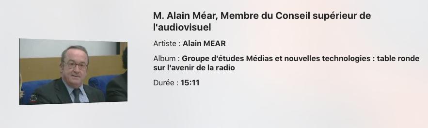 Alain Méar est décédé