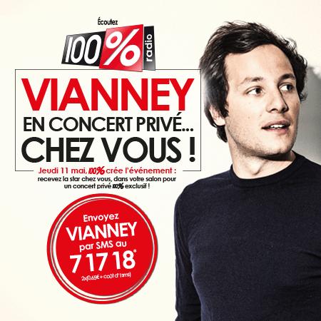 Concert de Vianney chez une auditrice de 100%
