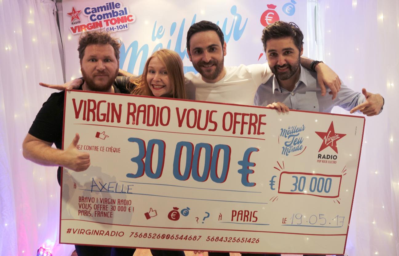 Axelle de Pau a gagné 30 000 € sur Virgin Radio
