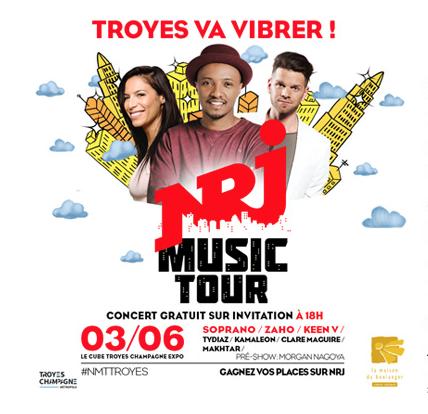 Le NRJ Music Tour fait étape à Troyes