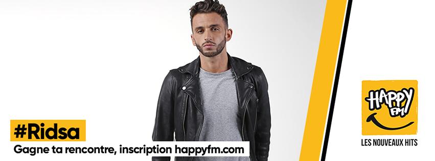Ridsa invité de la radio Happy FM pour une soirée privée