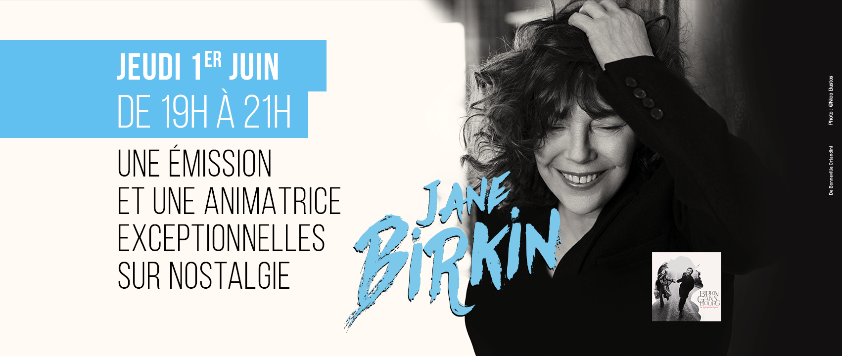 Jane Birkin animatrice sur Nostalgie