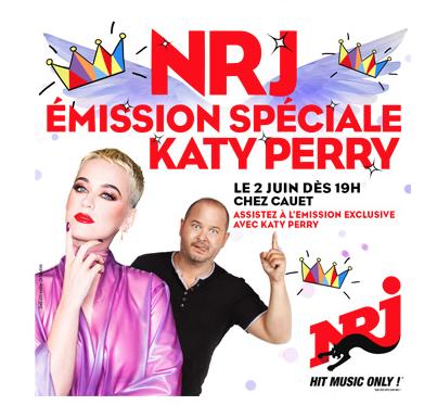 La chanteuse Katy Perry chez Cauet sur NRJ