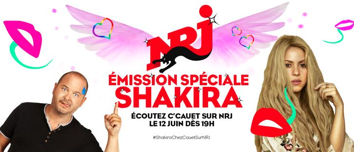 NRJ recevra la chanteuse Shakira
