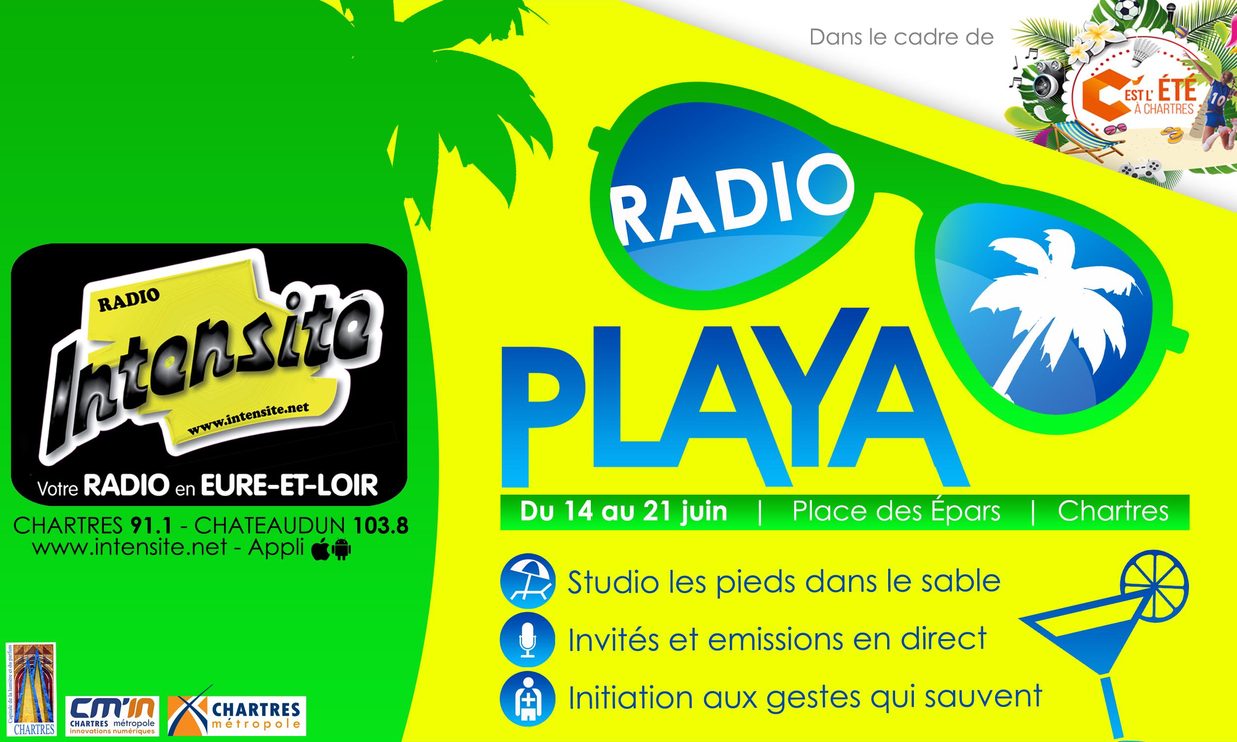 Jusqu'au 21 juin, Radio Intensité devient Radio Playa