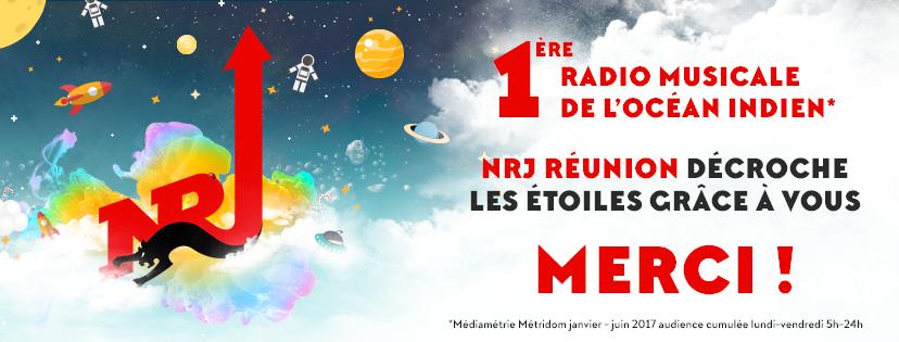 La Réunion : 548 700 auditeurs quotidiens pour NRJ Group