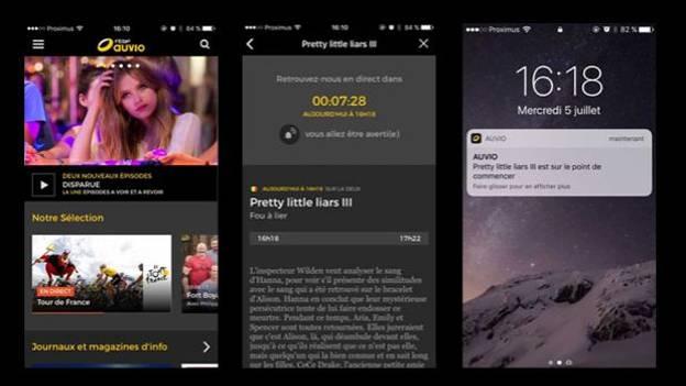 Lancement de l'application mobile Auvio sur Android et iOS