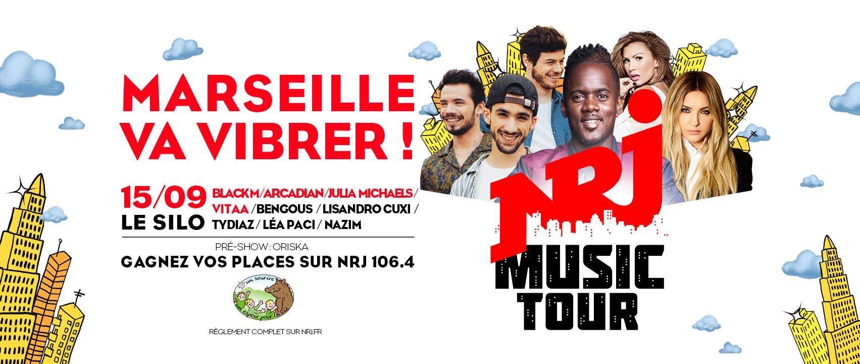 Marseille accueille le NRJ Music Tour