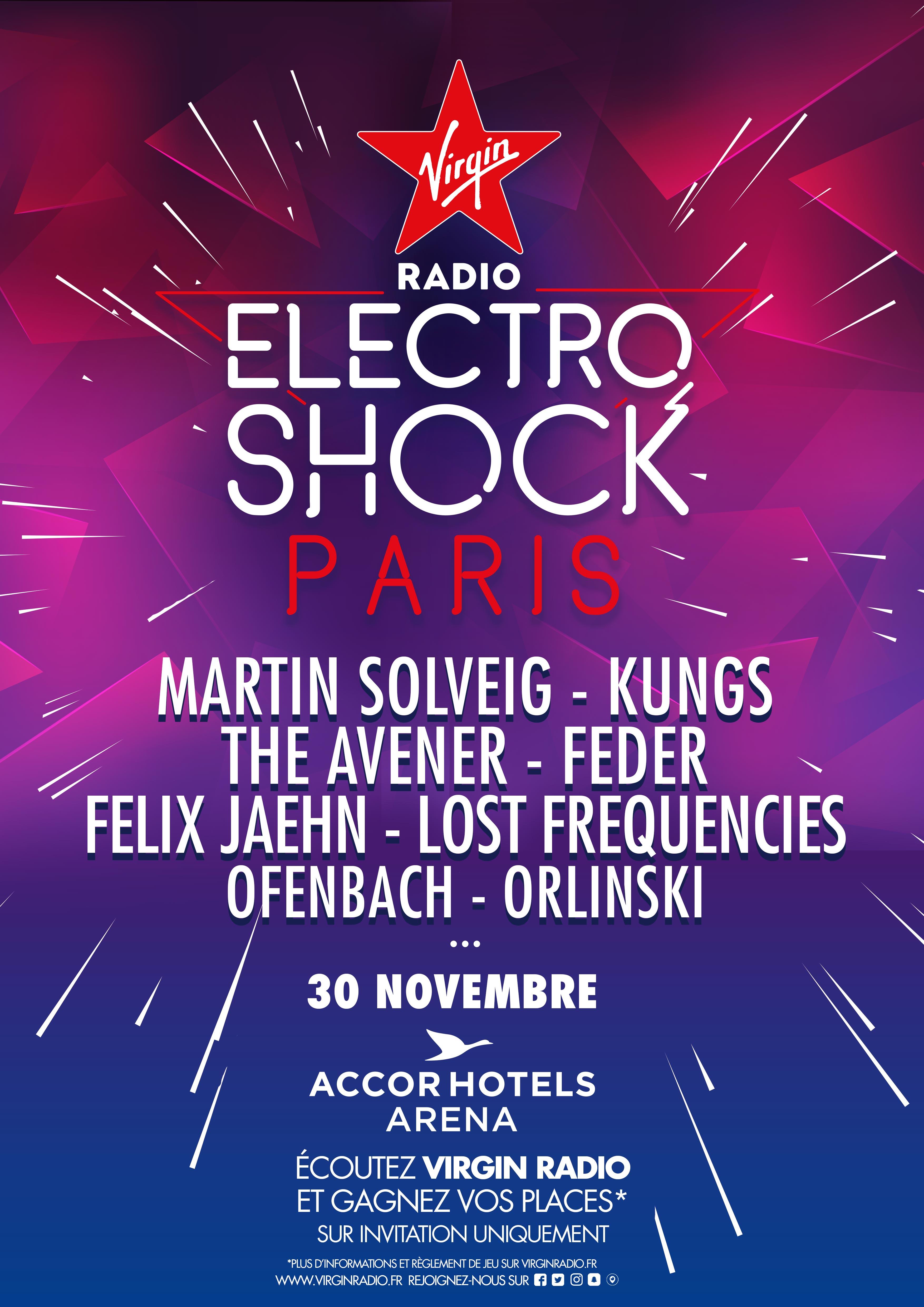 Virgin Radio : une nouvelle soirée ElectroShock à Paris