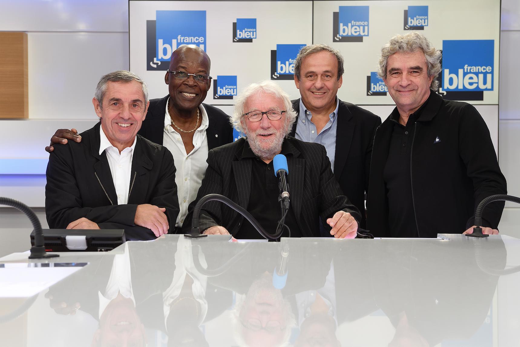 Un beau plateau de sportifs pour célébrer la 300e de Stade Bleu © Christophe Abramowitz / Radio France