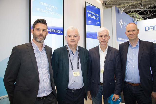 Actionnaires principaux de Digigram (de gauche à droite) : Raphaël TRIOMPHE (Directeur produit), Eric LE BIHAN, Didier TRANCHIER, Jérémie WEBER (PDG)