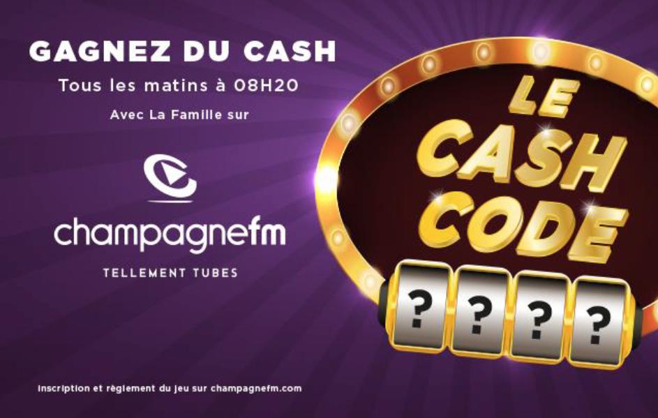 """Un """"Cash Code"""" de 2 017 € sur Champagne FM"""