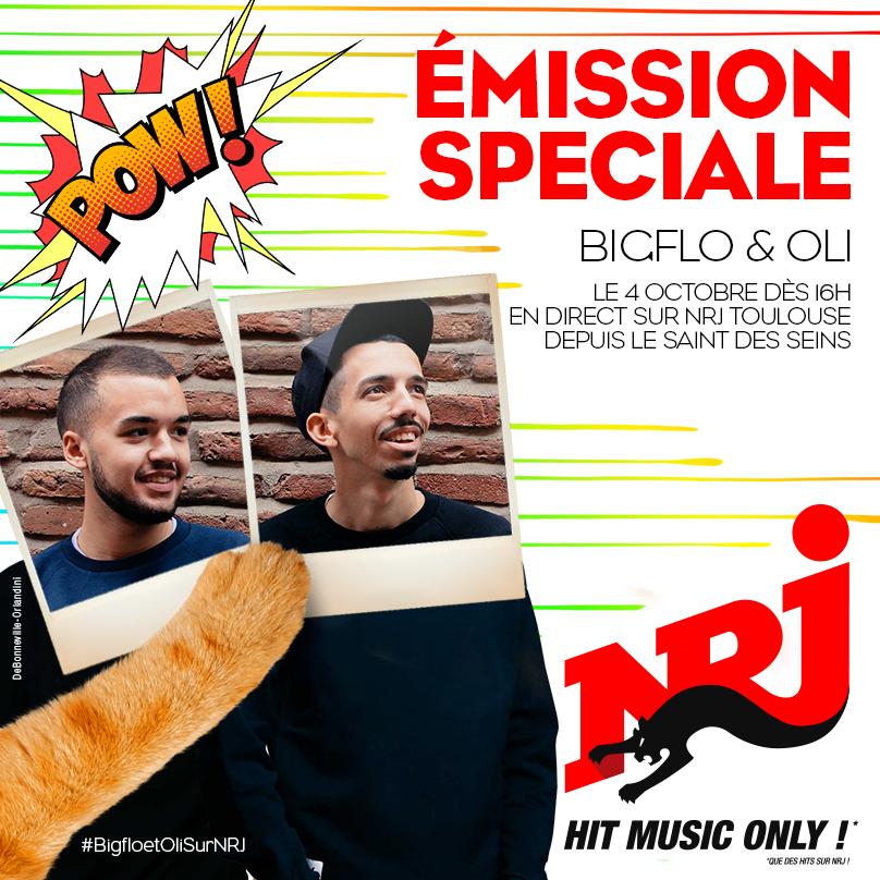 NRJ s'installe avec BigFlo & Oli à Toulouse