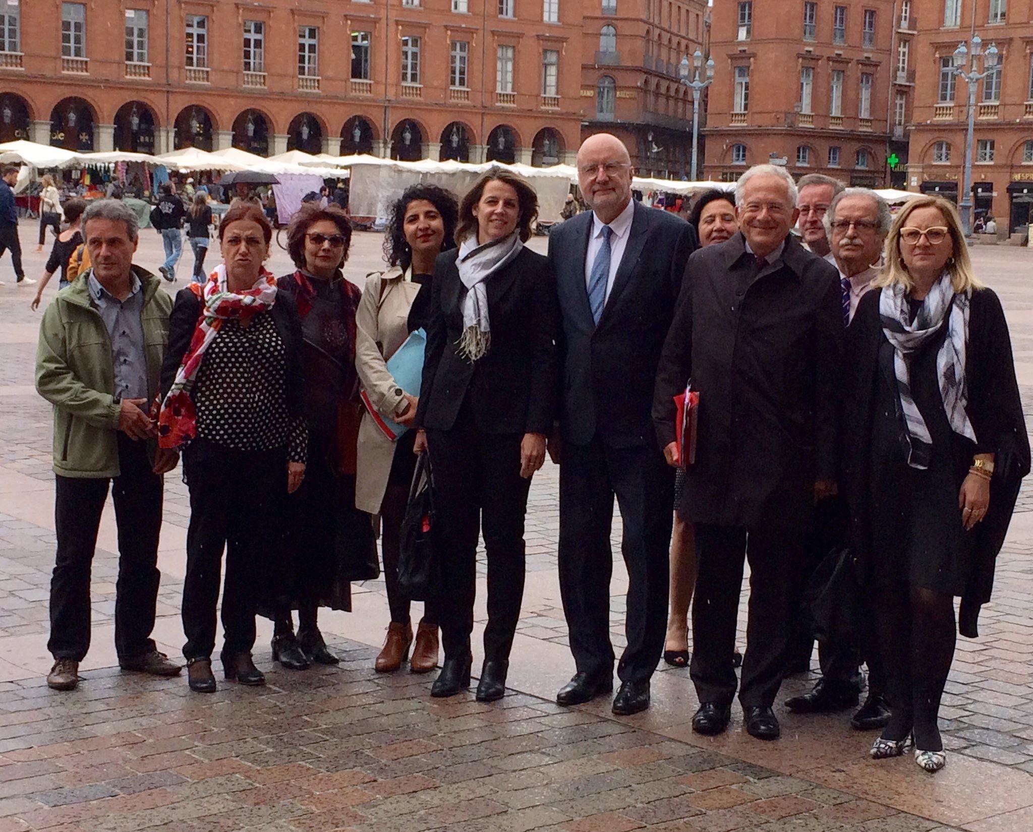 L'équipe du CTA de Toulouse avec Olivier Schrameck, préident du Conseil supérieur de l'audiovisuel