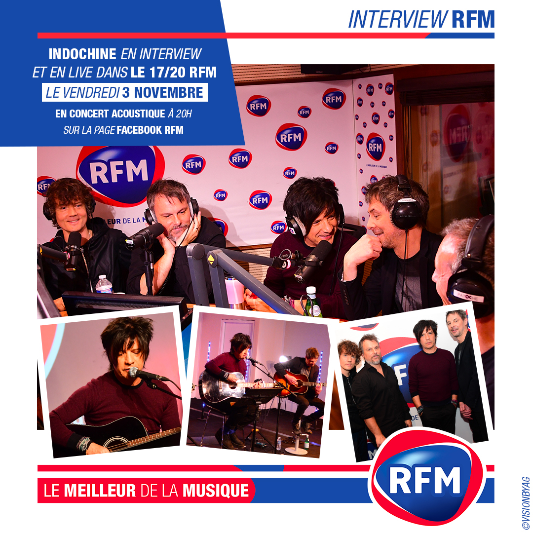 RFM diffuse un live acoustique d'Indochine