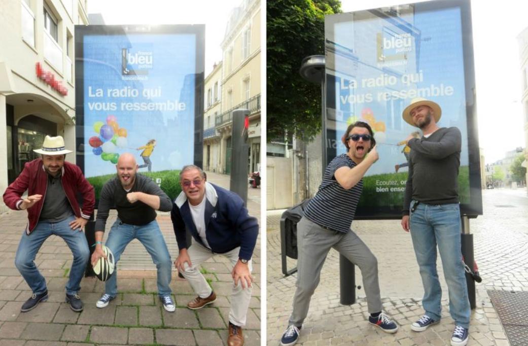 Actuellement, France Bleu Poitou s'affiche notamment à Poitiers © Radio France - France Bleu Poitou
