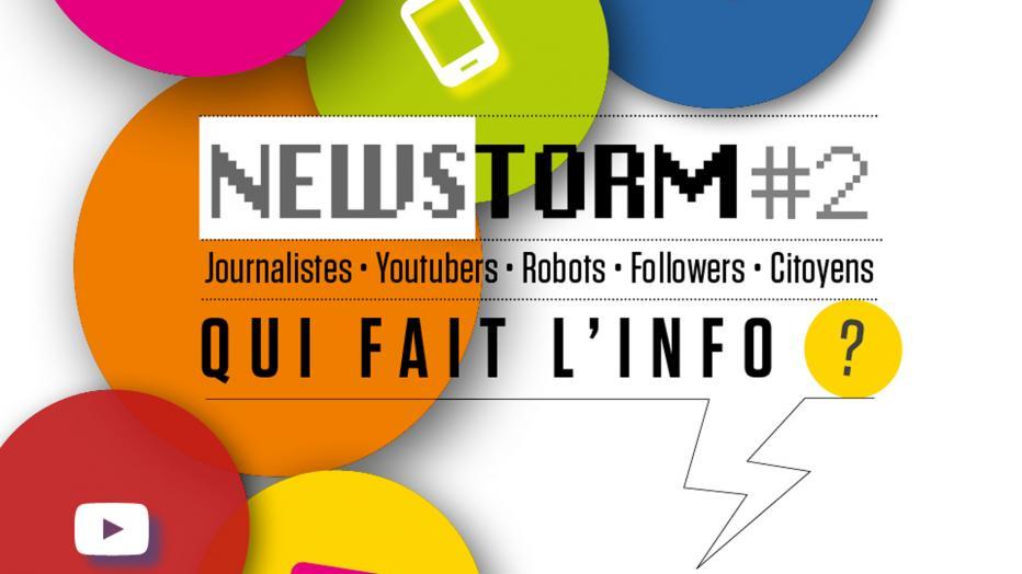 """NewStorm : """"qui fait l'info ?"""" : conférence avec franceinfo"""